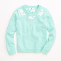 Girls Whale Applique Sweater