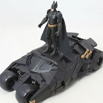 The Dark Knight BATMOBILE children toys batman car model with batman model plastic cars model excellent gift for kids Birthday (Color: Black)