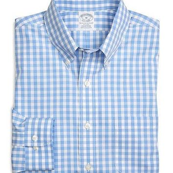 Non Iron Slim Fit Gingham Sport Shirt   Brooks Brothers