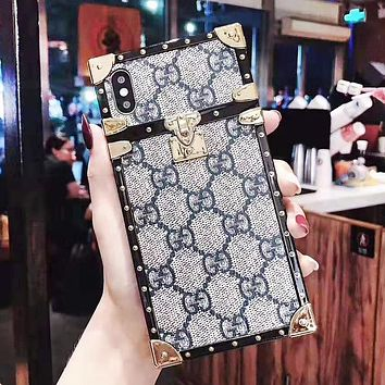 GUCCI Fashion New More Letter Leather Women Men Phone Case Protective Case