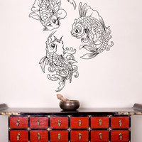 Vinyl Wall Decal Sticker Koi Fish Trio #1363