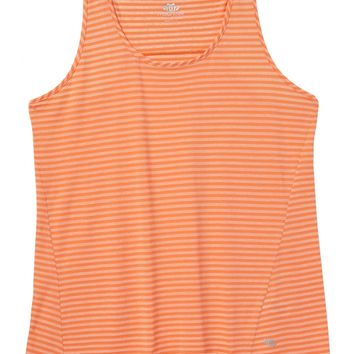 Plus Size - Creamsicle Racerback Striped Tank - Creamsicle