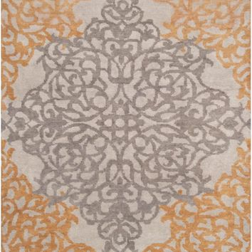 Surya Caspian Medallions and Damask Gray CAS-9914 Area Rug