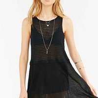 Project Social T Side-Slit Tunic Top- Black