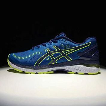 DCCKJG2 Asics gel kayano 23. Black & Blue. Men's Running Shoes Sneaker