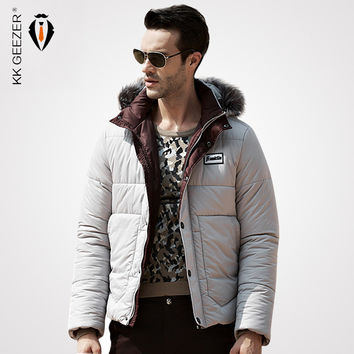 Hooded Design Men Parka Winter Fur Collar Coats Thick Down Jacket  Thickening Big Tall White Duck