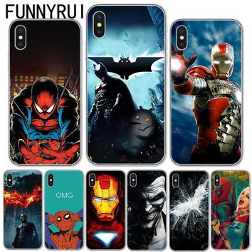 Deadpool Dead pool Taco The Avengers Soft TPU Silicone Cover For iPhone X 8 8lus 7 6 6s Plus 5S SE Phone Case Marvel  Superheroes  Batman AT_70_6