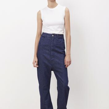 Totokaelo - MM6 Maison Margiela Indigo Rinse High Waisted Denim - $207.00