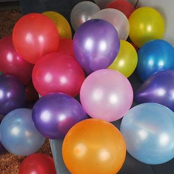 Latex Balloons Party Supplies, 12-inch, 12-piece