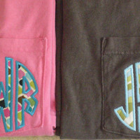 Monogram Applique Pocket Tee