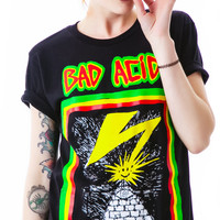 Bad Acid No Brains Tee Black