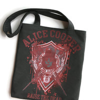 Alice Cooper Bag Upcycled T-shirt Tote Bag Band Bag