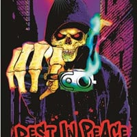 Grim Reaper Rest in Peace Black Light Poster 23x35