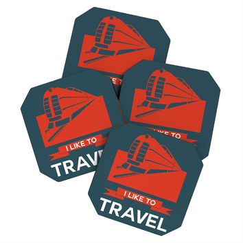 Naxart I Like To Travel 3 Coaster Set
