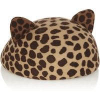 Eugenia Kim Caterina leopard-print wool-felt hat – 65% at THE OUTNET.COM