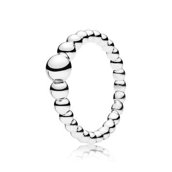 CHAMSS Winter New PAN 1:1 String of Beads Ring High Quality Round Ball Ring Original 925 Sterling Silver Glamour Woman Jewelry