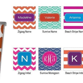 Personalized Tumbler Cup with Straw - Fiesta Monogram