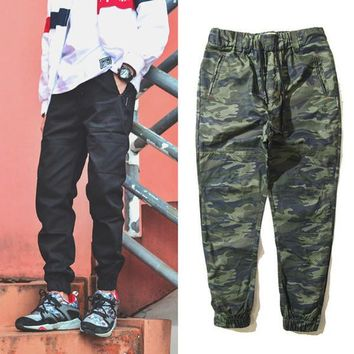 The Army Military Camouflage Pencil Pants Beam Foot Trousers Brand Clothing Skateboard Autumn Hip Hop Full Length Trousers