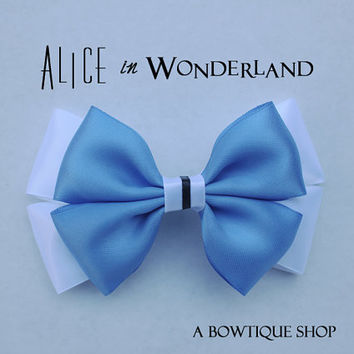 classic alice in wonderland hair bow