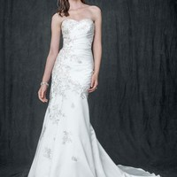 Satin Trumpet Gown with Sweetheart Neckline - David's Bridal