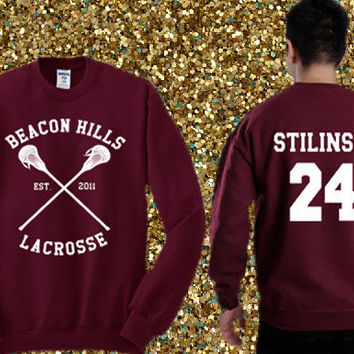 Beacon Hills Lacrosse - Stiles Stilinski 24 Sweater , crewneck sweater available for men and woman unisex adult