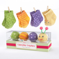 Baby Aspen Caterpillar Crawlers Baby Socks Gift Set