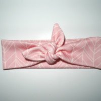 Dusty Pink Herringbone Headband