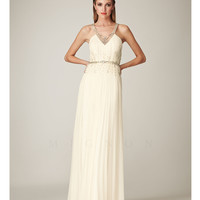 Mignon VM570 Ivory 1930s Style Grecian Beaded Elegant Dress 2015 Prom Dresses