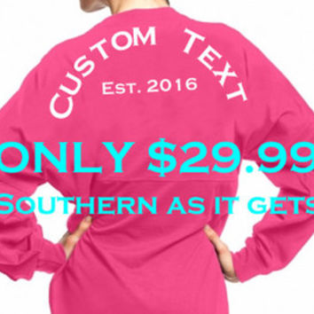Custom Spirit Jersey Personalized Southern Shirt Logo or Monogram on Chest Gray - Monogrammed Sorority Preppy