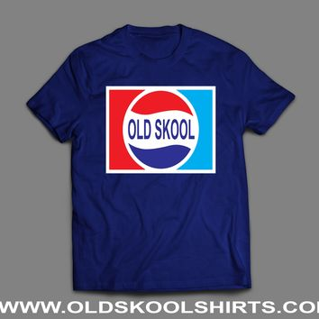 OLD PEPSI STYLE OLD SKOOL LOGO PARODY T-SHIRT