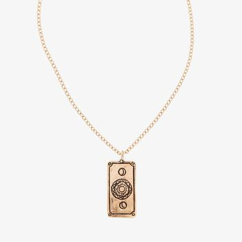 Sofia Zakia Lovers Tarot Card Necklace