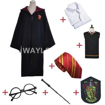 Gryffindor Uniform  Potter Full Set Cosplay Costume Adult Version Cotton Halloween Party New Gifts     for Harri Potter Cosplay