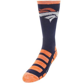 DENVER BRONCOS PATCHES QUARTER LENGTH SOCKS SIZE MEDIUM NEW FOR BARE FEET