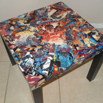 Superman Comic Collage Table