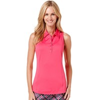 Grand Slam Ruched Sleeveless Golf Polo - Women's, Size: