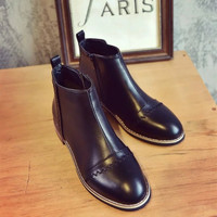 On Sale Hot Deal Winter Simple Design Zippers Dr. Martens Casual Height Increase Boots [8865348620]