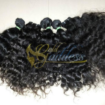 300g 10A Gold Goddess Designer Raw Virgin  hairs weaves, Temple Indian Remy Hairs