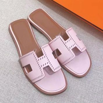 Hermes Women Fashion Casual Slipper Shoes