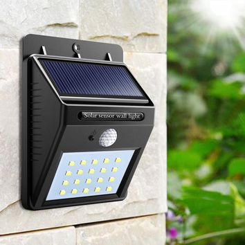 Outdoor Solar Sensor LED Light PIR Motion Sensor