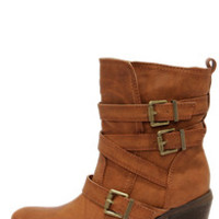 Groundbreakin' Cognac Brown Buckled Mid-Calf Boots