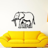 Wall Stickers Vinyl Decal Elephant Baby Animal Nice Room Decor (ig615)