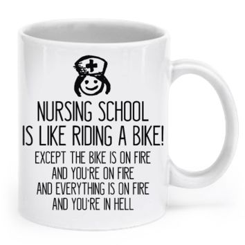 """Nursing School Is Like Riding A Bike!"" - Mug nsbke"