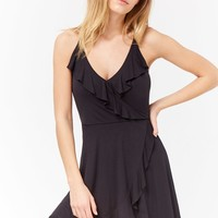 Ruffle Surplice Cami Dress
