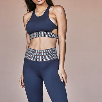 Olympia Activewear Troy Bra in Seal