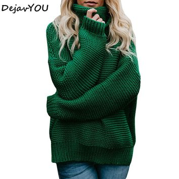 Coarse Pullover Women Jumper Turtleneck Sweater Female Jumper Women Warm Sweater thick Winter Cable Knitted Oversized Sweater