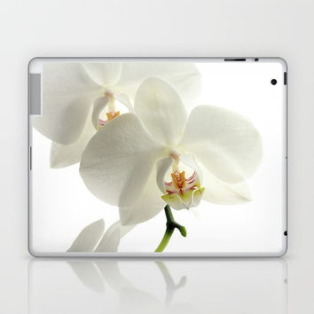 White Orchids Laptop & iPad Skin by kasseggs