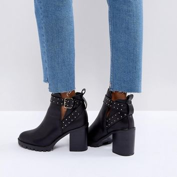 Miss KG Taffy Studded Heeled Ankle Boots at asos.com
