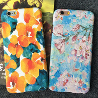 Oil Painting Flower iPhone 5se 5s 6 6s Plus Case Cover Gift 295