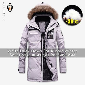 Trendy Winter Jackets Down Men Long Overcoat Duck 80% Parkas Business Windbreak Thick Coat Padded Parka Fashion Casual Brand Military AT_94_13