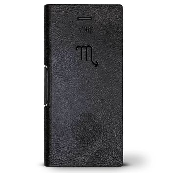Horoscope Scorpio | Leather Series case for iPhone 8/7/6/6s in Hickory Black